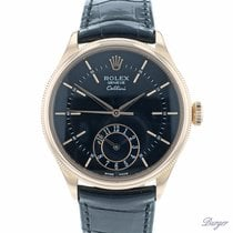 Rolex Cellini Dual Time Rózsaarany 39mm Fekete