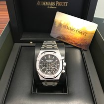 Audemars Piguet Royal Oak Chronograph Acier 41mm Noir Sans chiffres France, paris