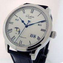 Glashütte Original Steel Automatic Silver Roman numerals 42mm new Senator Perpetual Calendar