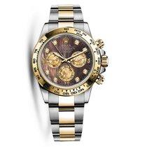 Rolex DAYTONA Steel & 18K Yellow Gold Dark MOP Diamond Dial
