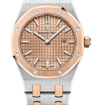 Audemars Piguet AP Royal Oak Pink Rose Gold Dial Ladies 33mm