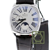 Zenith Elite Heritage Star Moonphase lady silver dial blue roman