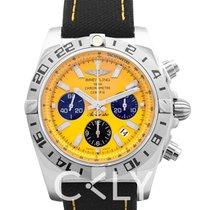 百年靈 Chronomat 44 Limited Edition Yellow Steel/Textile 44mm - AB0
