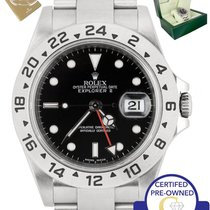 Rolex 2010 ENGRAVED Rolex Explorer II 16570 Stainless Steel...