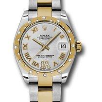 Rolex Lady-Datejust Zlato/Zeljezo 31mm Srebro
