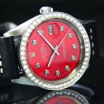 Rolex Oyster Perpetual Date Steel 34mm Red No numerals