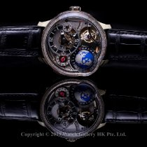 Greubel Forsey White gold 43.5mm Manual winding GMT Earth Tourbillon_GREUBEL FORSEY new