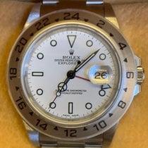 Rolex Explorer II Stål 40mm Hvit Ingen tall