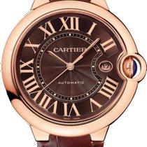 Cartier Ballon Bleu 42mm Ouro rosa 42mm Castanho Romanos