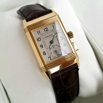 Jaeger-LeCoultre Reverso Memory Yellow gold 23mm Silver No numerals