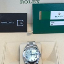 Rolex Day-Date 40 Platinum Ice Blue Roman