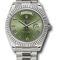 Rolex Used 228239_used_olive_roman Day Date 40mm White Gold...
