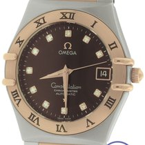 Omega Constellation '95 35mm Diamond Brown Two-Tone Rose...