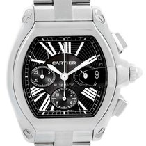 Cartier Roadster Chronograph Black Dial Automatic Mens Watch...
