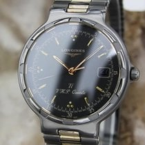 Longines Conquest Swiss Made 33mm Titanium Quartz Dress Watch...