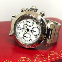 Cartier Pasha C new 2000 Automatic Chronograph Watch with original box 2412