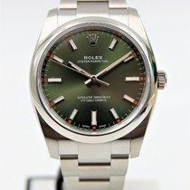 Rolex Oyster Perpetual 34 Stål 34mm Grønn Arabisk