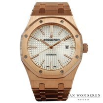 Audemars Piguet Royal Oak Selfwinding tweedehands 41mm Wit Datum Roodgoud