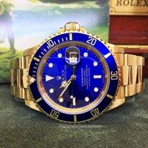 Rolex 16618 Or jaune 1992 Submariner Date 40mm occasion