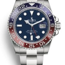 Rolex White gold Automatic Blue No numerals 40mm new GMT-Master II