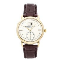 A. Lange & Söhne Yellow gold Automatic Silver No numerals 37mm pre-owned Langematik