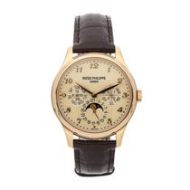 Patek Philippe Rose gold Automatic Champagne Arabic numerals 39mm pre-owned Perpetual Calendar
