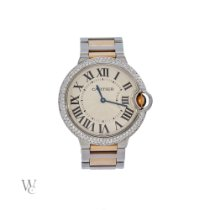 Cartier Ballon Bleu 36mm Gold/Steel 36mm White Roman numerals United Kingdom, London
