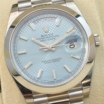 Rolex Day Date 3 40mm Platin Ice Sky Blue Index PT Platinum 950
