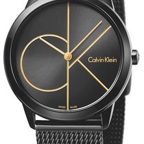 ck Calvin Klein Steel 35mm Quartz K3M224X1 new