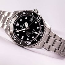 Seiko Grand Seiko Steel 44.2mm Black No numerals United States of America, New Jersey, Princeton