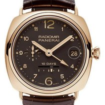Panerai Radiomir 10 Days Gmt Automatic Oro Rosso - 45mm -...