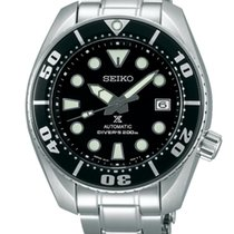 Seiko Prospex Acero 45mm Negro Sin cifras