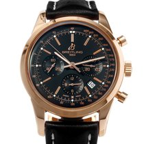 Breitling Transocean Chronograph Rose gold 43mm Black United States of America, Texas, Houston