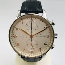IWC Portuguese Chronograph Stal 41mm Biały Arabskie Polska, Czestochowa