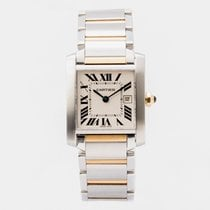 Cartier 2485 Gold/Steel 2013 Tank Française pre-owned