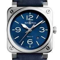 Bell & Ross BR 03-92 Steel BR0392-BLU-ST/SCA new