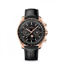 Omega Speedmaster Professional Moonwatch Moonphase Or rose 44.2mm Noir