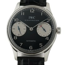 IWC Portuguese Collection Portugieser 2000 Steel Black Dial...