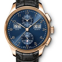 IWC Portuguese Perpetual Calendar Digital Date-Month Rose gold 45mm Blue Arabic numerals