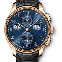 IWC Portuguese Perpetual Calendar Digital Date-Month Ouro rosa 45mm Azul Árabes