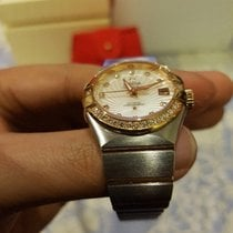 Omega Constellation Ladies Red Gold and Steel