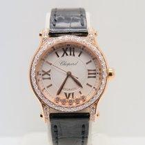 Chopard Happy Sport 18k Rose Gold Non-Factory Diamonds