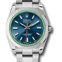 Rolex 116400GV blo Oyster Perpetual Milgauss Men's Watch