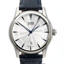 Oris Artelier Date pre-owned 40mm Silver Date Leather