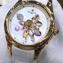 Perrelet Diamond Flower Rose gold 38mm White No numerals