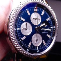 Breitling Bentley Mark VI pre-owned 42mm Blue Chronograph Date Year Perpetual calendar Steel