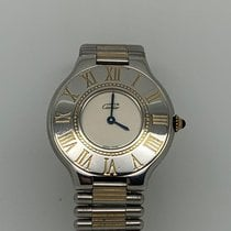 Cartier 21 Must de Cartier Or/Acier 29mm Blanc Sans chiffres France, Paris