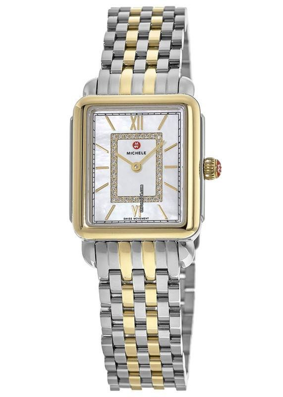 ebc51f9b795 Michele Deco II Midsize Two-Tone, Diamond Dial Women's Watch... for $895  for sale from a Trusted Seller on Chrono24