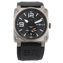 Bell & Ross BR 03-51 GMT new 2010 Automatic Chronograph Watch with original box and original papers BR03-51GMT
