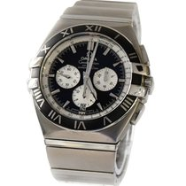 Omega Acier Remontage automatique Omega Black Stainless Steel Constellation occasion